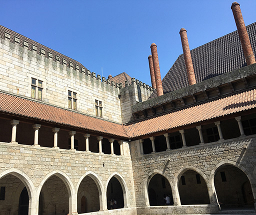 Guimaraes castle, motorcycle road trip in Portugal with Air Moto Tours