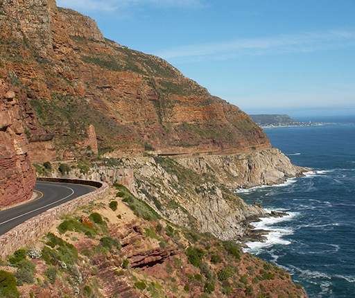 Chapmans Peak Drive, motorcycle road trip to South Africa with Air Moto Tours