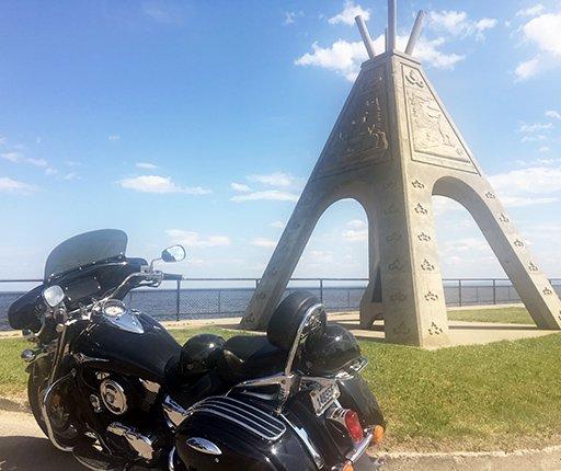 Wendake, road trip à moto au Québec avec Air Moto Tours