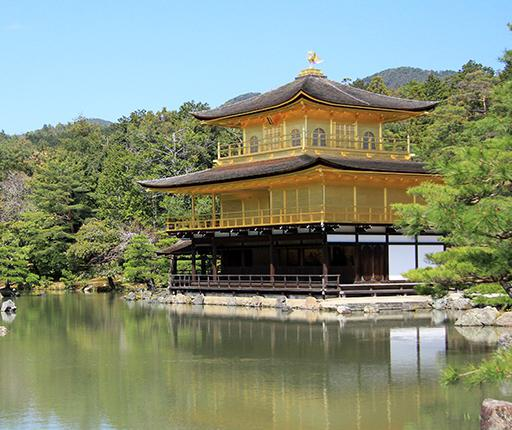 Kinkakuji, motorcycle road trip to Japan with Air Moto Tours