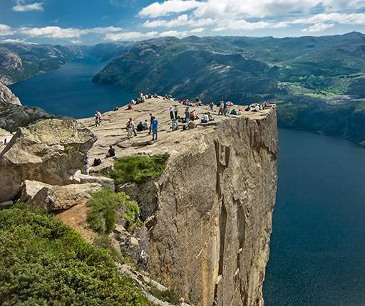 Preikestolen, motorcycle road trip to Norway with Air Moto Tours