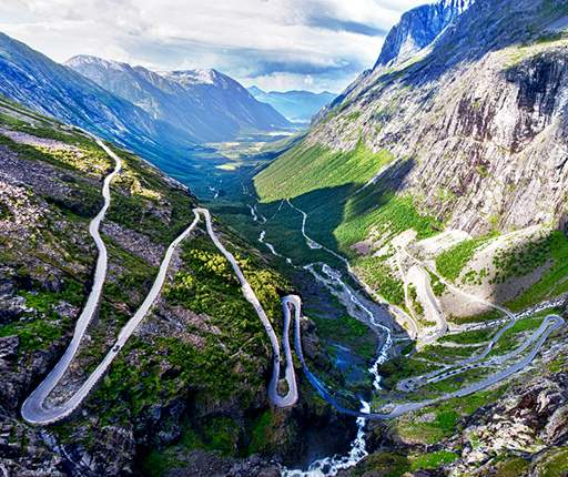 Trollstigen, motorcycle road trip to Norway with Air Moto Tours